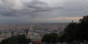 Удивительный вид на Париж с Монмартра